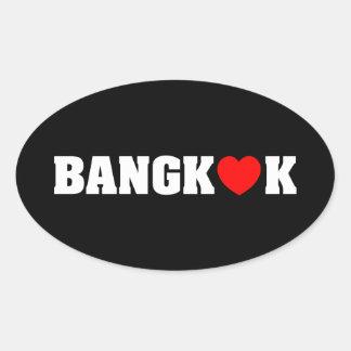 BANGKOK-LIEBE OVALER AUFKLEBER
