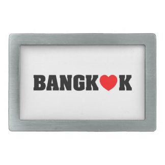 BANGKOK-LIEBE RECHTECKIGE GÜRTELSCHNALLE