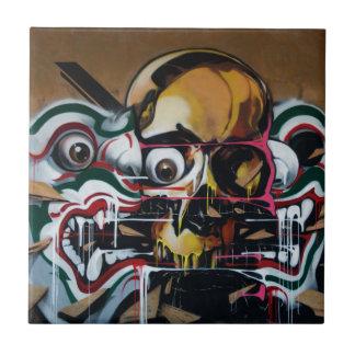 Bangkok-Schädel-Graffiti Fliese