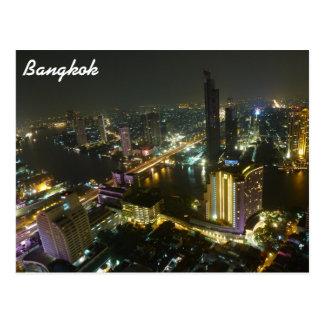 Bangkok-Skyline nachts Postkarte