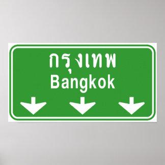 Bangkok voran passen heraus auf! ⚠ poster