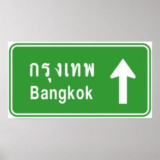 Bangkok voran ⚠ thailändisches poster