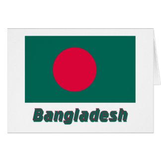 Bangladesch-Flagge mit Namen Karte