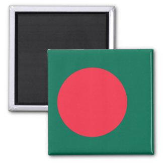 Bangladesch-Flagge Quadratischer Magnet