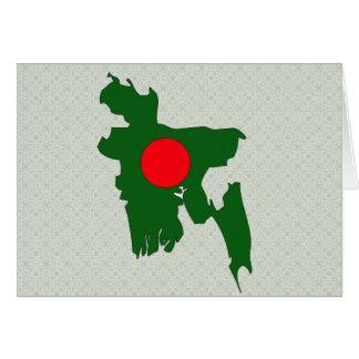 Bangladesch-Flaggen-Karte Größengleich Karte