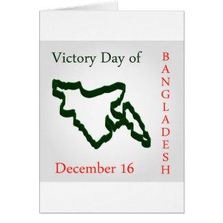 Bangladesch-Siegtag Karte