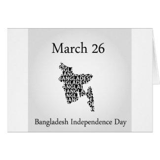 Bangladesch-Unabhängigkeitstag 26. März Karte