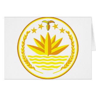 Bangladesch-Wappen BD Karte
