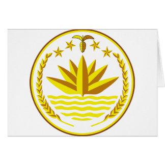 Bangladesch-Wappen Karte