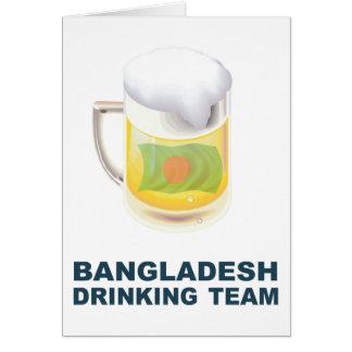 Bangladeschisches trinkendes Team Karte