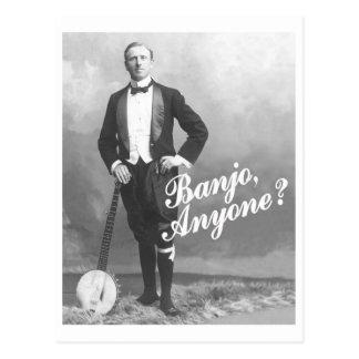 Banjo jedermann Postkarte