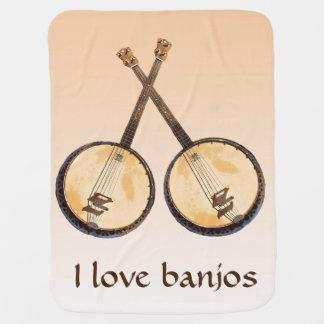 Banjo-Musikinstrument-orange Baby-Decke Puckdecke