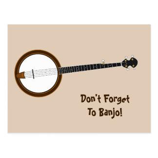 Banjo Postkarte