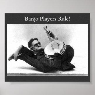Banjo-Spieler-Regel Plakatdrucke