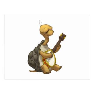 Banjo-Strummin' Schildkröten-Postkarte Postkarte
