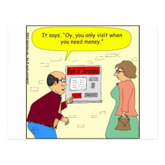 Bank 333 von Jerusalem-Cartoon Postkarte