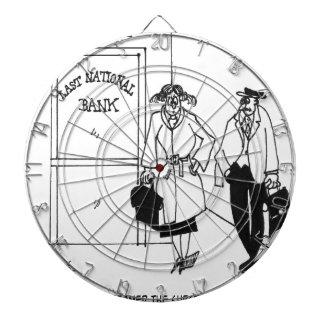 Bank-Cartoon 3328 Dartscheibe