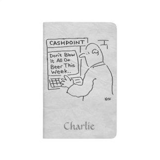 """Bank Cashpoint sagt, dass """"durchbrennen Sie sie Taschennotizbuch"""
