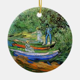 Bank des Oises bei Auvers durch Vincent van Gogh Keramik Ornament