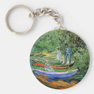 Bank des Oises bei Auvers durch Vincent van Gogh Schlüsselanhänger