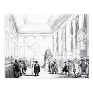Bank of England, großer Hall, von Ackermanns Postkarte