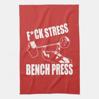 BANK-PRESSE, F*CK DRUCK - Workout motivierend Geschirrtuch