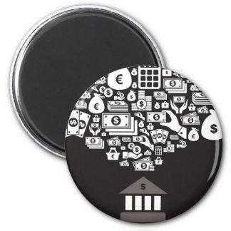 Bank Runder Magnet 5,7 Cm