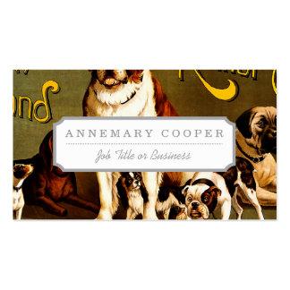 Bank-Show. Neu-England Hundehütten-Verein Visitenkarten