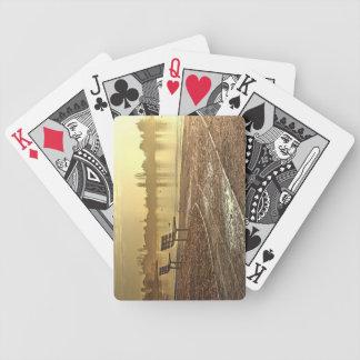 Bänke am Sonnenaufgang Bicycle Spielkarten