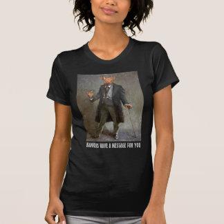 """""""Banker haben eine Mitteilung für Sie"""" politisches T-Shirt"""