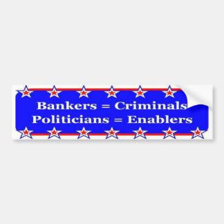 Banker-und Politiker-Autoaufkleber Autoaufkleber