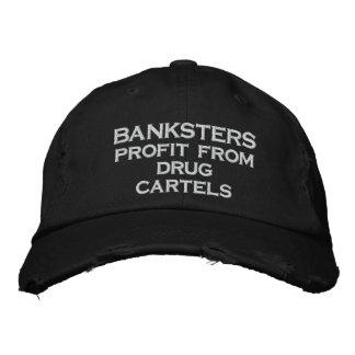 BANKSTERS Gewinn von den Drogenkartellen Bestickte Baseballkappe