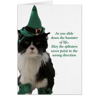 Bannisters des Lebens - glücklichen St Patrick Karte