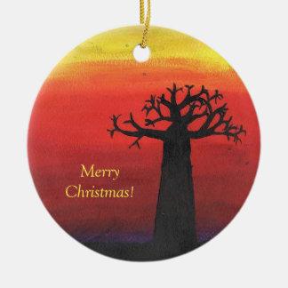 Baobab-Weihnachtsbaum Keramik Ornament