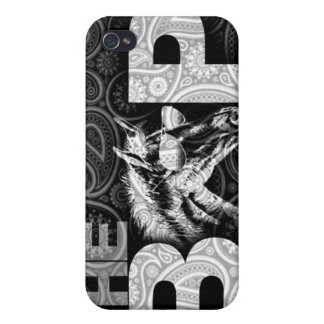 BAP iPhone 4 Fall (schwarzes Paisley) iPhone 4 Cover