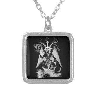Baphomet großes Silber überzogene Halskette