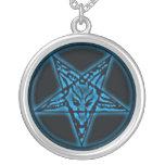 Baphomet Sigil Blau-Halskette