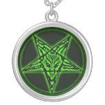 Baphomet Sigil grüne Halskette