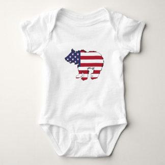 "Bär ""amerikanische Flagge "" Baby Strampler"