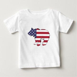"Bär ""amerikanische Flagge "" Baby T-shirt"