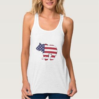 """Bär """"amerikanische Flagge """" Tanktop"""