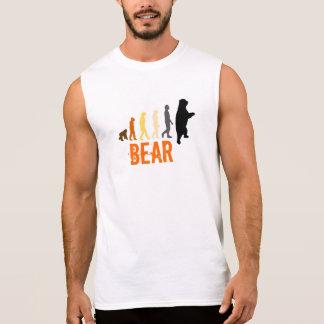 Bär/Aufstieg des Mann-Bären färbt orange Greifer Ärmellose Shirts