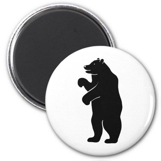 bär bear berlin grizzly runder magnet 5,7 cm