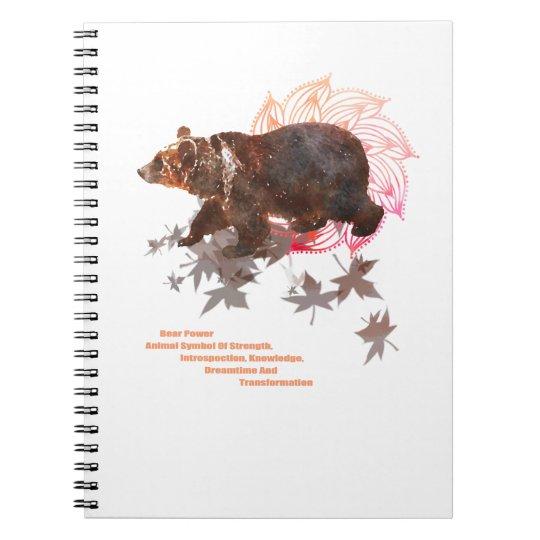 Bär, Bear Shamanism + Mandala Notizblock