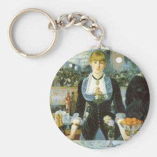 Bar beim Folies Bergere durch Manet, Vintage Kunst Schlüsselanhänger
