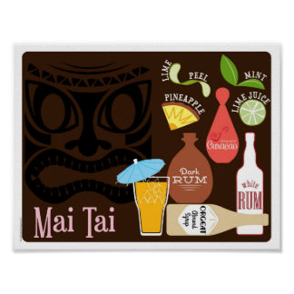 Bar-Cocktail MAI Tai Tiki Poster