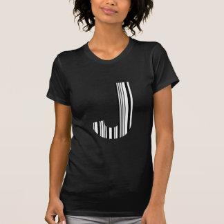 BAR-CODE des BUCHSTABE-J erstes T-Shirt