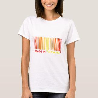 Bar-Code-Flaggen-Farbe-SPANIEN-Entwurf T-Shirt