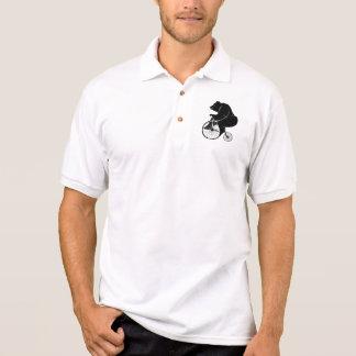 Bär, der Vintages Fahrrad reitet Polo Shirt