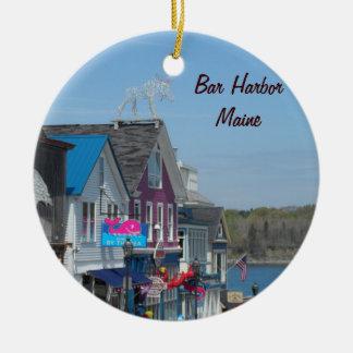 Bar-Hafen, Maine Keramik Ornament